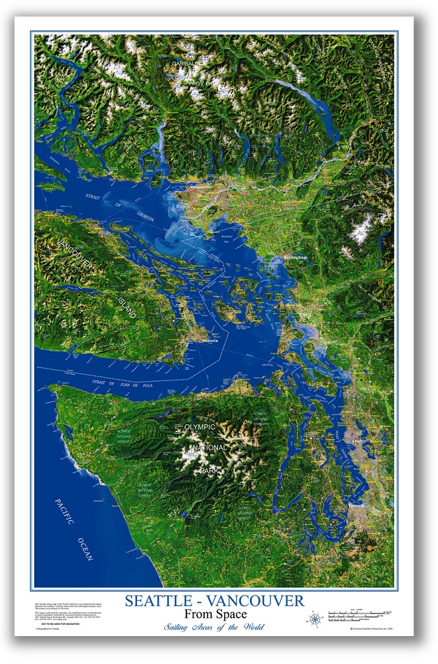Seattle-Vancouver Image Map on