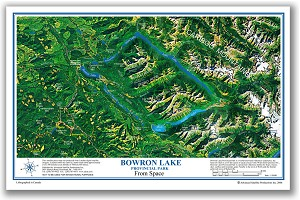 Bowron Lake Place Map
